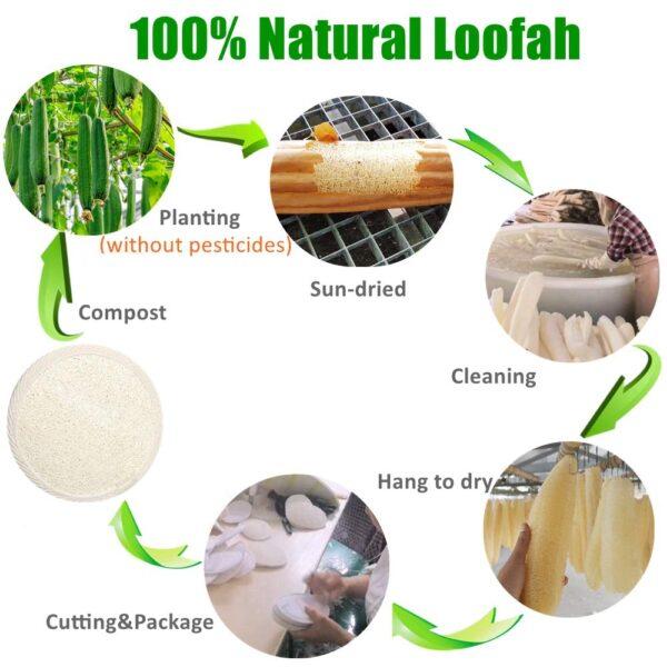 raw organic loofah