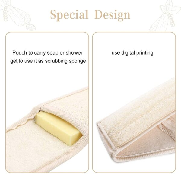 Loofah Back Scrubber Belt With Rope Wholesale Supplier