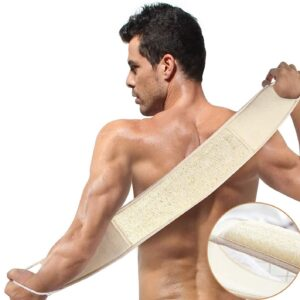 Egyptian Loofah Back Scrubber Belt With Rope Wholesale Supplier