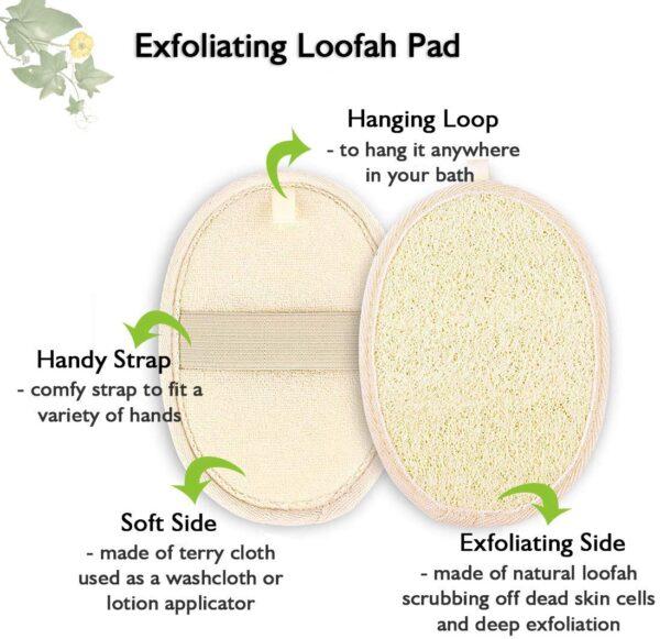 loofah bath pad