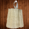 Loofah piece with ribbon